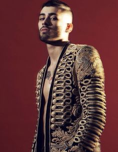 Zayn wearing Balmain Rope Jacket