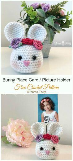 5cf0e358372 Amigurumi Bunny Place Card or Picture Holder Crochet Free Pattern -  Crochet   Amigurumi