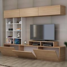 New living room white tv stand shelves 48 Ideas Tv Unit Decor, Tv Wall Decor, Diy Wall, Tv Cabinet Design, Tv Wall Design, Tv Wanddekor, Tv Wall Cabinets, Wall Cabinets Living Room, Tv Unit Furniture