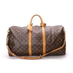 Louis Vuitton Keepall Bandouliere 55 Monogram Shoulder bags Brown Canvas M41414