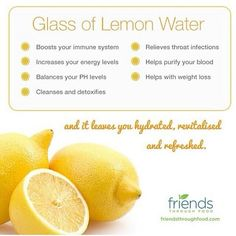 Glass of lemon and water.