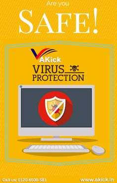 Akick - Are you fed up with unnecessary spyware? Don't worry! Try #Akick Free computer #antivirus #software that will help you to get rid of recent harmful virus.  https://www.akick.in/antivirus.php  Product Info:    Name: AKick antivirus software                       Software Support : Windows 8/7/Vista/XP   Version : 1.0.0                                                           Size : 8.7 MB    Contact Info: Phone:  0120-6500-581            Email ID: sales@akick.com