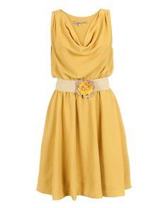 Silvian Heach Dress Ashley Mustard