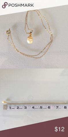 Cute golden tone acorn pearl necklace Boho style, best presents for yours little princes 😋❤️💕 Zara Jewelry Necklaces