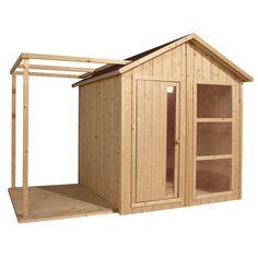 Maisonnette en bois brut avec terrasse à personnaliser pour enfant Naturel - Ethan - Jouets d'extérieur - Les jeux et jouets - Univers des enfants - Décoration d'intérieur - Alinéa
