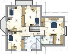 Rzut Mój Dom Tapien CE Tiny Studio Apartments, Apartment Floor Plans, Modern House Plans, Home Fashion, House Design, Flooring, How To Plan, House Styles, Scale