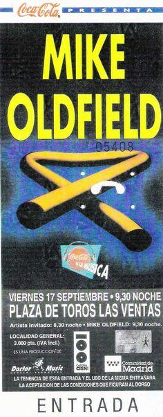 Madrid 1993/09/17 Coca Cola, Mike Oldfield, Madrid, Artists, Coke, Cola