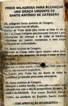 santo-antonio-oracao Reiki, Jesus Prayer, Quotes About God, Positive Affirmations, Positive Vibes, The Cure, Motivational Quotes, Prayers, Healing