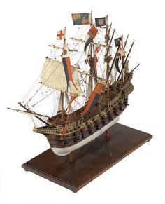 Great Harry (Circa 1560) Warship; Galleon or man-of-war; 80 guns - National Maritime Museum