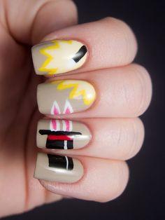 Rabbit in a hat - Magician nail art