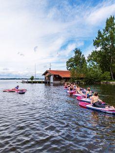 Yoga auf dem Wasser! Was für eine tolle Erfahrung.