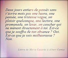 Maria Casarès, est considérée comme l'une des plus grandes tragédiennes françaises du XXe siècle. Elle entretiendra une liaison secrète passionnée avec Marcel Camus qui ne prendra fin qu'avec la mort accidentelle de l'écrivain en 1960.