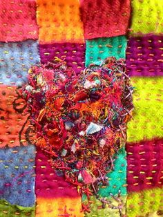 Summer Stitching #10 created by Dale Rollerson textile artist
