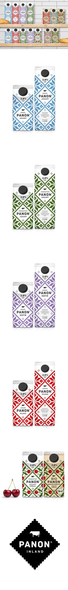 PANON Dairy *** Stunning new packaging from Peter Gregson Studio for PANON and BIOPANON yogurt and kefir brands.