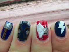 Thor inspired nail art!