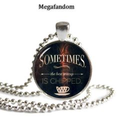 Chipped Cup Pendant Round Glass Pendant/Necklace Silver Plated 25mm by Megafandom on Etsy https://www.etsy.com/listing/214655285/chipped-cup-pendant-round-glass