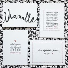how cute is this writing! Diy Cards, Rock And Roll, Diy And Crafts, Card Making, Bullet Journal, Place Card Holders, Valentines, Texture, Writing
