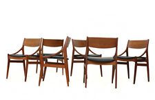 60er Teak Stühle Vestervig Eriksen danish modern set of 6 dining chairs 60s