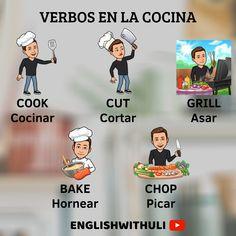 English Verbs, English Phrases, Learn English Words, English Grammar, English Tips, Spanish English, English Study, English Lessons, Learning English For Kids