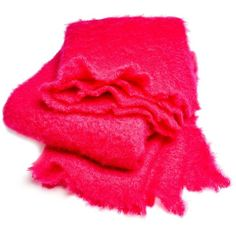 abcDNA Mohair Hot Pink Throw ($350) ❤ liked on Polyvore featuring home, bed & bath, bedding, blankets, hot pink throw, mohair throw blanket, textured blanket, handmade blankets and textured bedding
