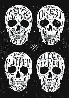 images of quotes about art   Skulls & Quotes Art Print by bmddesign.fr   Society6