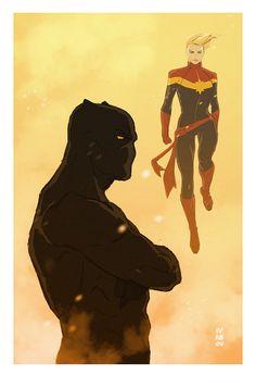 Featured artist: Dima Ivanov #WeAreWakanda #blackpanther #captainmarvel