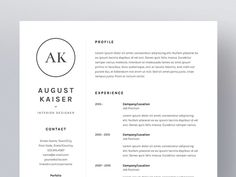 August Kaiser - Resume/CV Template by Worn Out Media Co. on Creative Market