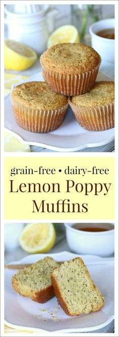 Flecked with crunchy poppy seeds and bursting with sweet lemony goodness, these grain free and dairy free lemon poppy seed muffins are lemon-poppy perfection!