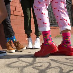 Show your colorful nature with Berry socks. The juicy berries are designed to delight, while the pink background creates an eye-opening contrast so you'. Women's Socks, Happy Socks, Rubber Rain Boots, Fall Winter, Dress Up, Pink, Collection, Color, Fashion