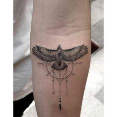 Bird / geometric. Addition inspiration for my bee