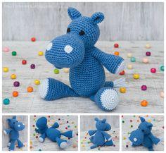 Hippo Crochet hippopotamus Stuffed hippo Jungle animal Handmade hippo Amigurumi hippo Toy Soft interior doll Gift for child Soft safe toy