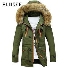 Parkas Jackets & Coats Joobox Winter Jacket Men New Fahsion Fur Collar Thickening Men Parkas Waterproof Windproof Coat Hooded Cotton Paddded Jackets