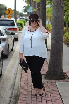 Plus Size Clothing for Women - Jessica Kane Sleeve Top - Marsala Trim (Sizes 14 - - Society+ - Society Plus - Buy Online Now! Looks Plus Size, Plus Size Model, Plus Size Tops, Curvy Girl Fashion, Modest Fashion, Women's Fashion Dresses, Curvy Outfits, Plus Size Outfits, Top Clothing Brands
