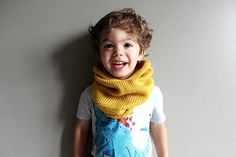 For the mini hipster in your life  toddler knit cowl in MUSTARD (vegan friendly, hypoallergenic) - 2T/3T