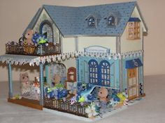 Sylvanian families beautifully decorated seaside beach house fully furnished