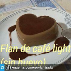 Flan de café light (sin huevo) eugenia_comerporlamirada