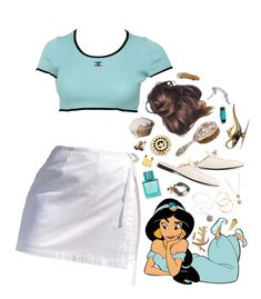 Discover outfit ideas for Aladdin Movie made with the shoplook outfit maker. Modern Disney Outfits, Modern Princess Outfits, Modern Day Disney, Princess Inspired Outfits, Modern Disney Characters, Disney Princess Outfits, Disney High, Disney Bound Outfits, Disney Day