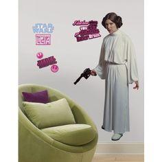 Star Wars™ Princess Leia™ Giant Wall Decal
