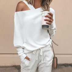 Women's Dresses – Solide Ein-Schulter-Pullover - 2019 Mode Fashion Closet, Fashion Outfits, Womens Fashion, Fashion Trends, Office Fashion, Trendy Fashion, Style Fashion, Cheap Fashion, Fashion Boots