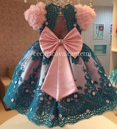 No photo description available. Baby Girl Frocks, Baby Girl Party Dresses, Frocks For Girls, Kids Frocks, Dresses Kids Girl, Flower Girl Dresses, Kids Dress Wear, Kids Gown, 1st Birthday Girl Dress