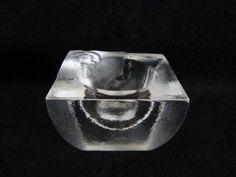 Kosta Boda votive candle holder Fossil design by Kjell Engman Sweden