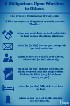 Obligations for Muslims