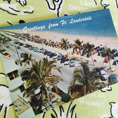 vintage Fort Lauderdale Florida postcard 1960s chrome Florida souvenir A1A Where the Boys Are