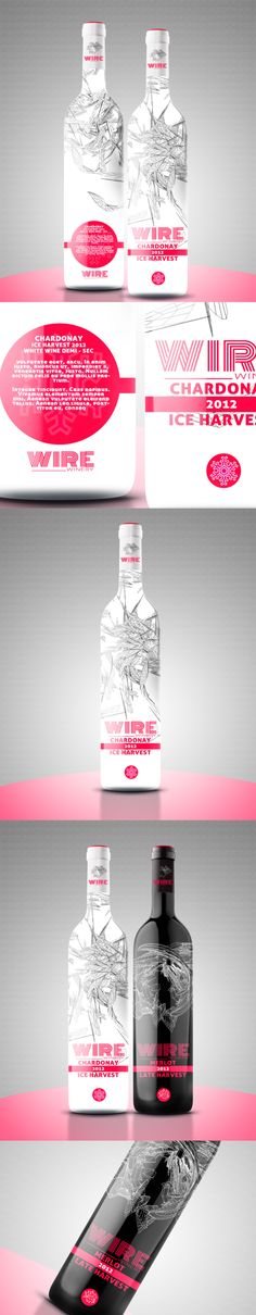 WINE BOTTLE DESIGN - BLACK & WHITE EDITION by Provoco , via Behance