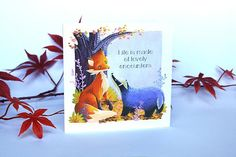 Lovely Friendship Available as a postcard with clear double page inside Friendship, Illustrations, Etsy, Badger, Illustration, Stand By Me