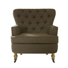 Reading chair Mink Collette Button Back Armchair Living Room Inspiration, Home Decor Inspiration, Living Room Chairs, Home Living Room, Little Dream Home, Living Room Color Schemes, Lounge Design, Upholstered Arm Chair, Occasional Chairs