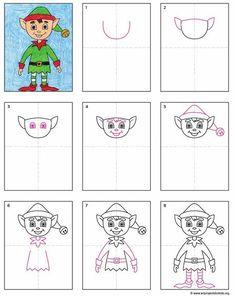 PDF Tutorial of Elf drawing. #elfontheshelfideas #howtodraw