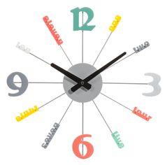 Horloge en métal multicolore D 38 cm POP