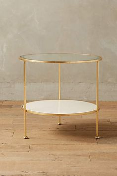 Lacquered Round Side Table - anthropologie.com