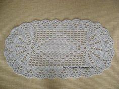 Tapete de Croche em Barbante 3 Tapete de Croche em Barbante Com Grafico Flores Redondo Oval